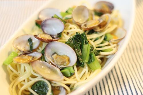 小松菜とあさりのボンゴレ|わっさんの食いしん坊レシピ